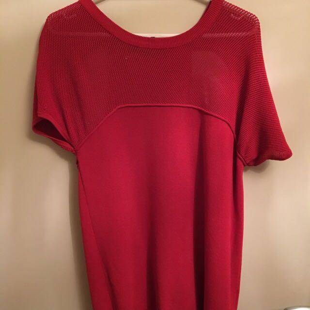 KSUBI Red Knit Top