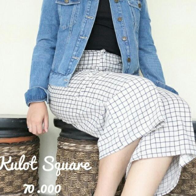 Celana Kulot Square