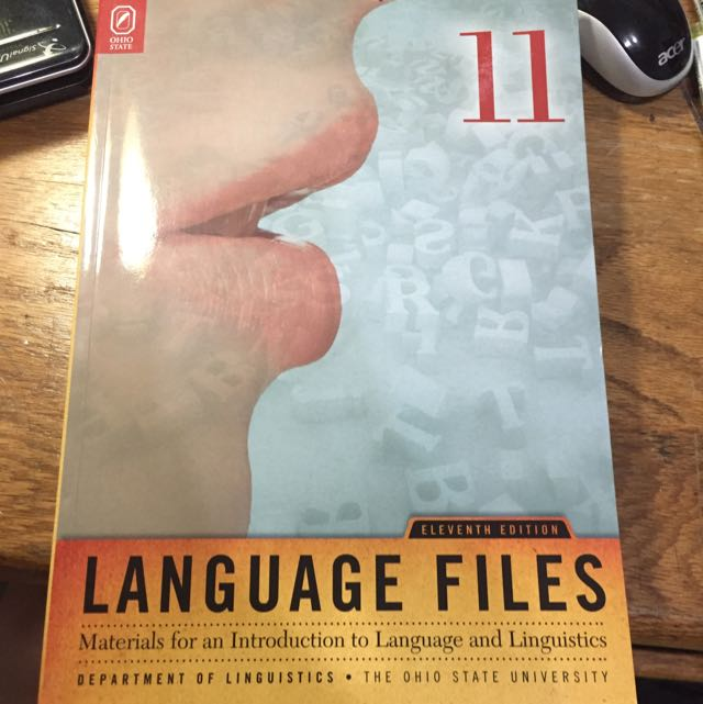 (保留中)Language Files 語言學概論