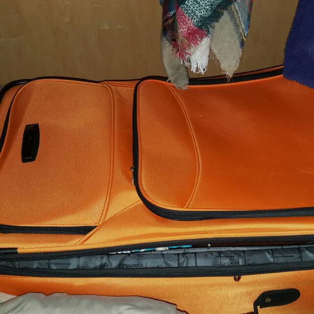 Large Orange Bentley Suitcase