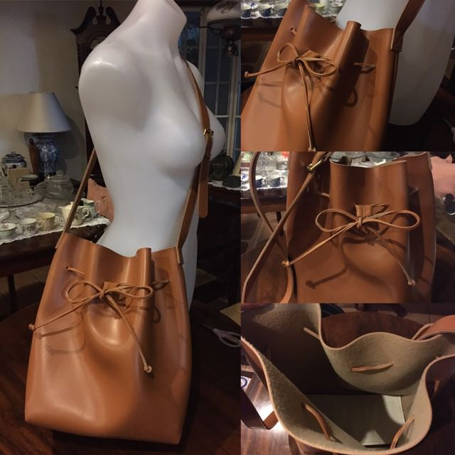 Leather Bucket Sling Bag