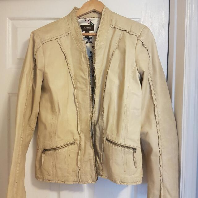 Leather Jacket Large Leather Jacket Worn Once. New Condition.