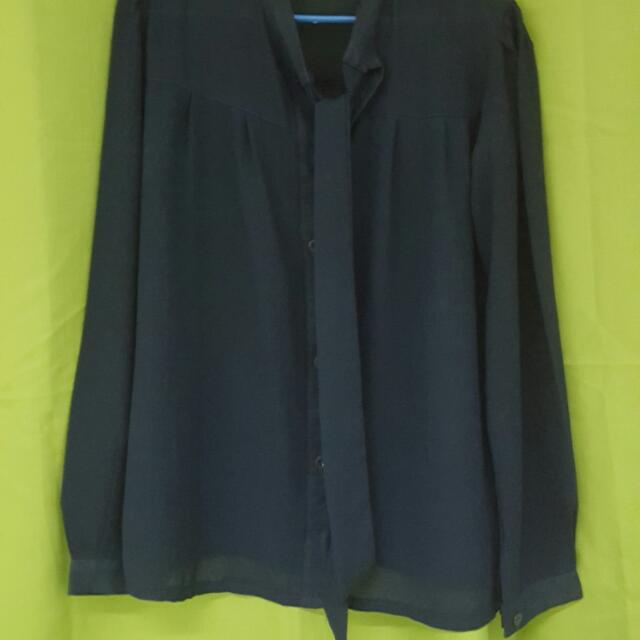 -reserved-long sleeve blouse