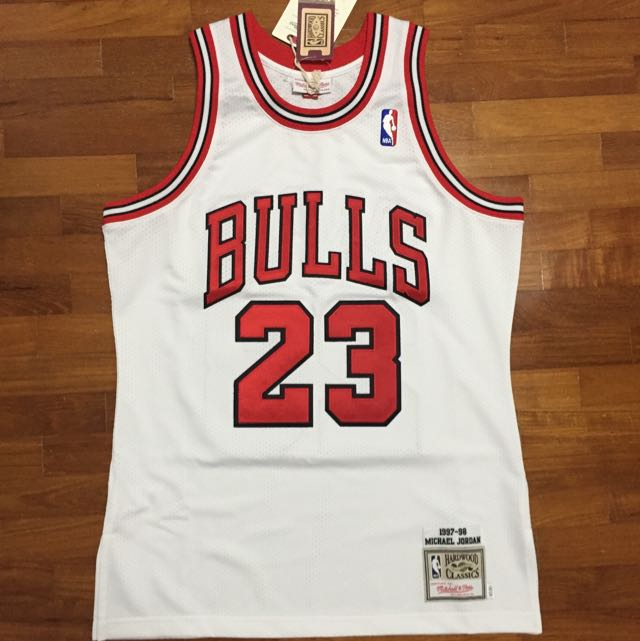 cd433e88f56d Michael Jordan Mitchell   Ness Jersey Chicago Home 1997-98 Season ...