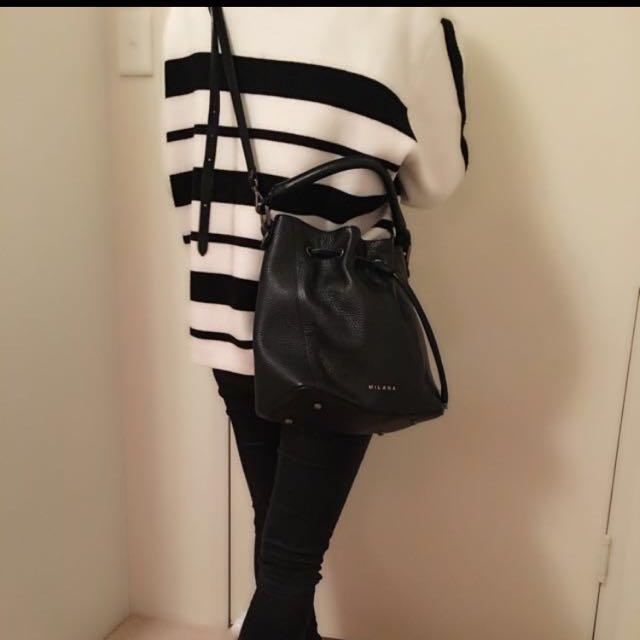 Milana Black Bucket Bag