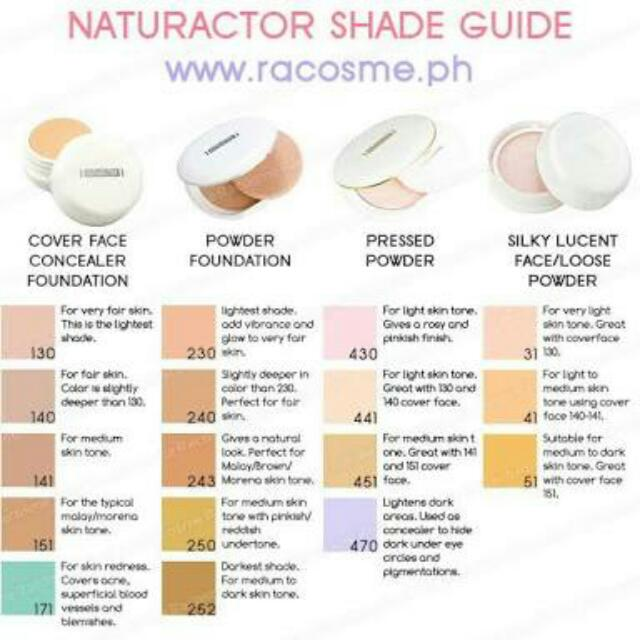 Naturactor Cover Face And Foundation