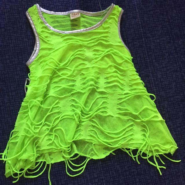 Neon Yellow Green Rugged Dress