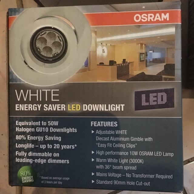 Osram White Energy Saver LED Downlights