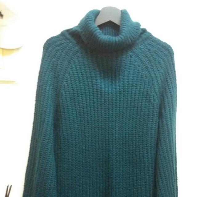 Pazzo 秋冬墨綠粗針織毛衣