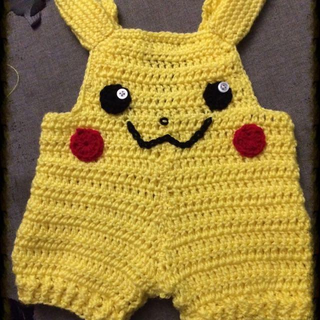 Pikachu Overalls Crochet