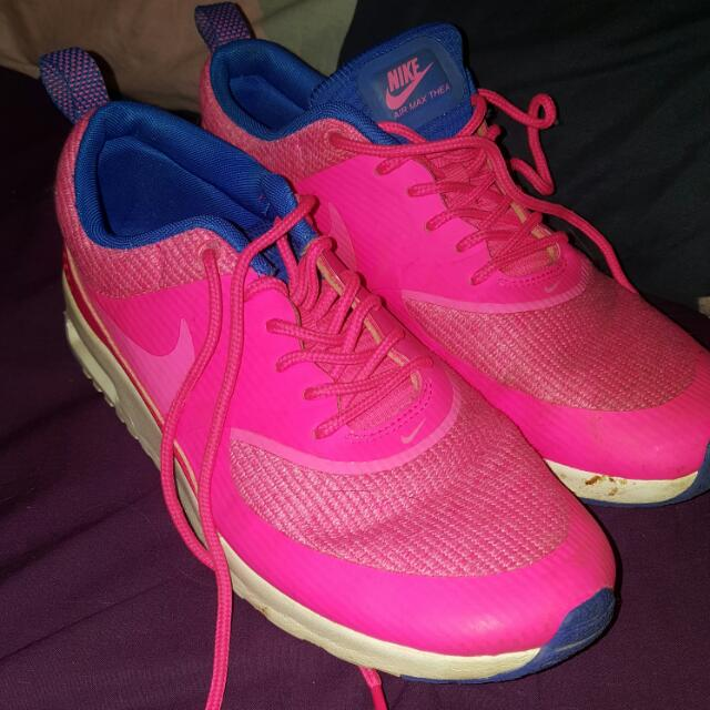 Pink And Blue Nike Thea