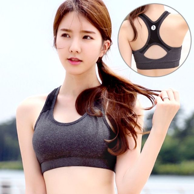 eaa566ad15 PO  Korean Style Sports Bra Racerback Black   Orange   Purple - Code ...