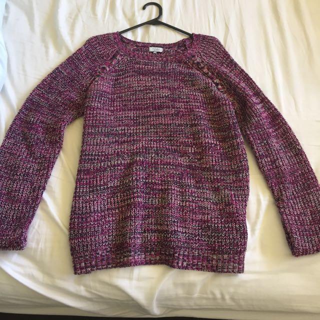 Purple Marle Toni Knit Jumper