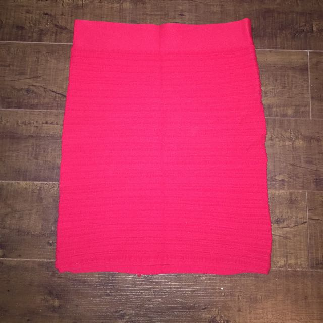 Red Body-con Sexy Skirt