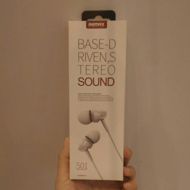 REMAX RM-501耳機3.5mm 入耳式立體聲側入耳機 白 全新