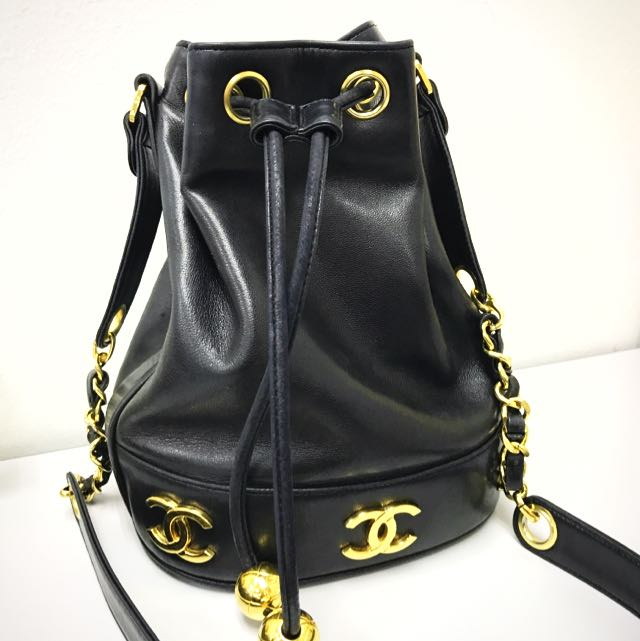 a8f6027c755b Authentic Vintage Chanel Lamb Bucket For Rental, Luxury, Bags ...