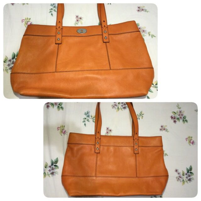 Reprice!! Fossil Shopper Hunter Orange