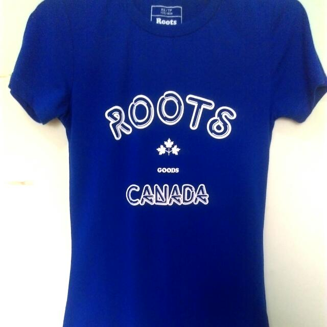 Roots 寶藍T