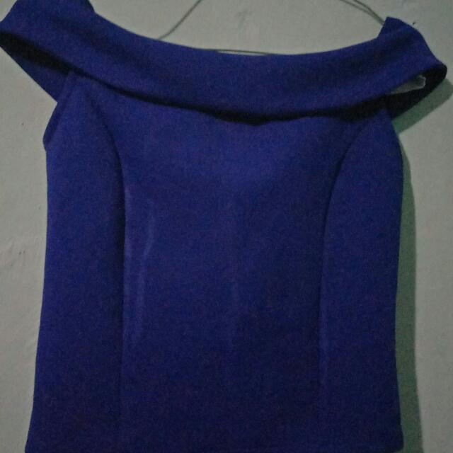 Sabrina Top Blue