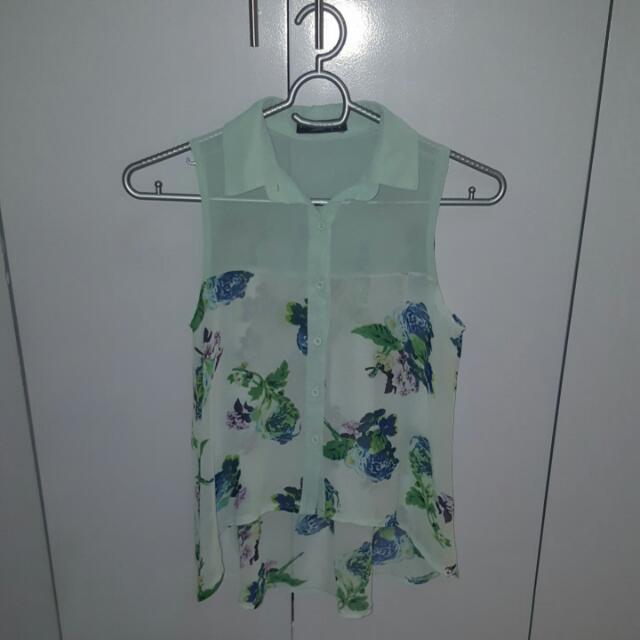 Sleeveless Top Mint Green (Cinderella)