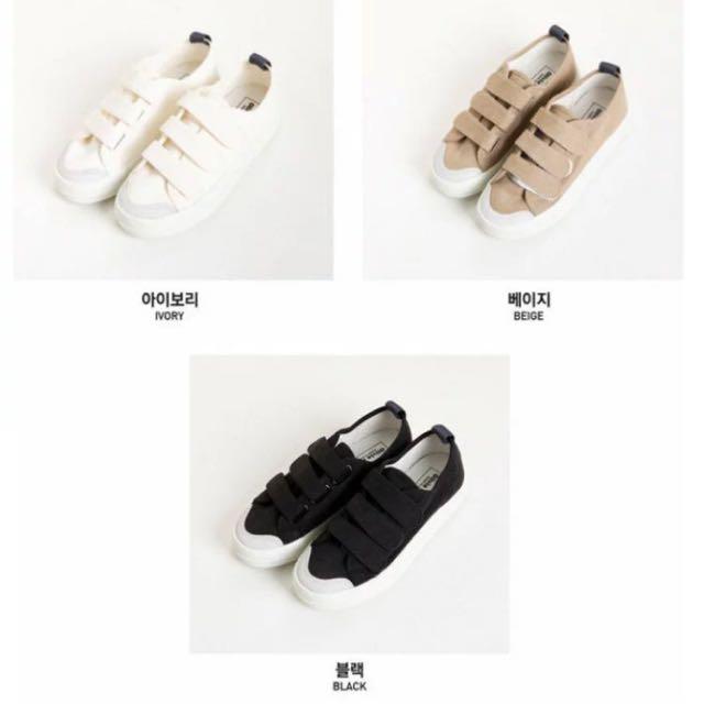 (韓國代購)Sonyunara圓頭配色魔鬼氈休閒鞋