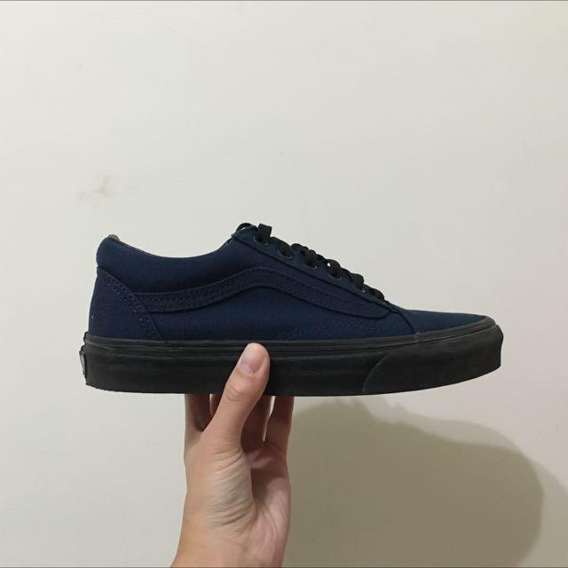 深藍黑底vans/23cm