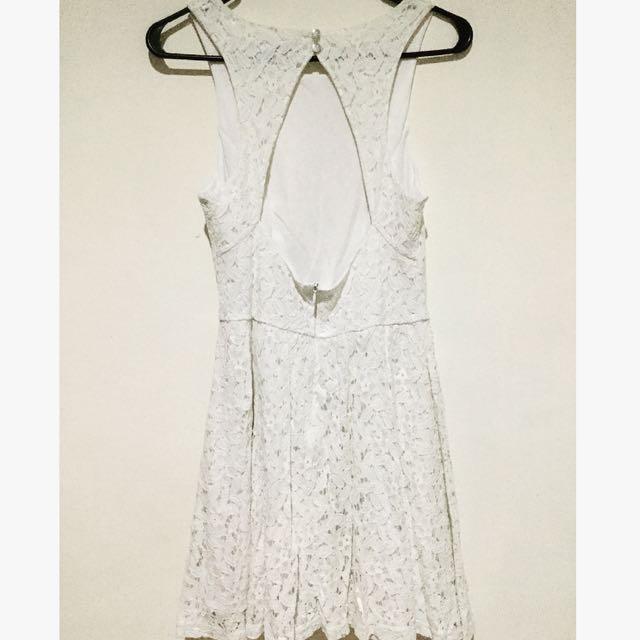 White Sexy Back Dress By Zalora