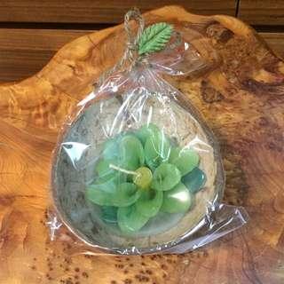 純手工製作(綠)椰子殼泡澡漂浮蠟燭 50g