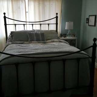 A Beautiful Queen Metal Bed