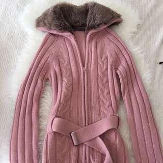 Fur Trim Sweater