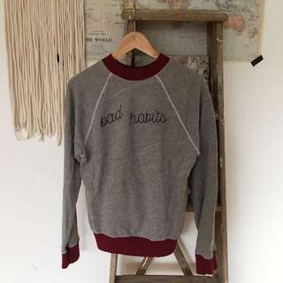 Urban Outfitters Pullover Bad Habits Sweater