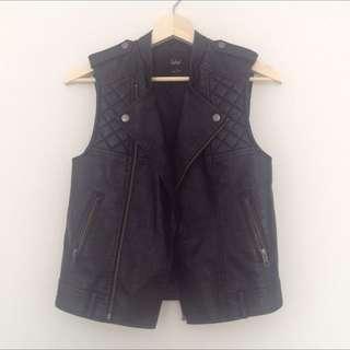 Sportsgirl Faux Leather Vest