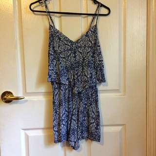 Size Small Floral Play Suit