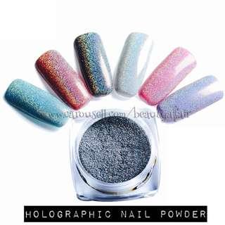 ♠️ READY STOCK ♠️ Holographic Nail Powder/Glitter