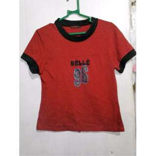 Belle red shirt