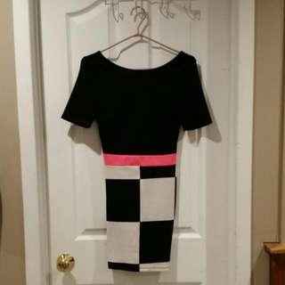 Vijo Couture Vintage Themed Mini Dress (Small)