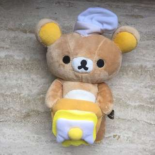 Rilakkuma Plush (Chef With Egg Sandwich)