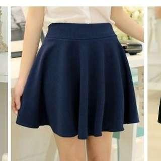 NEW Elasticized Waist Mini Skirt Dark Blue size Large