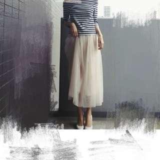 仙女白色雪紡紗裙