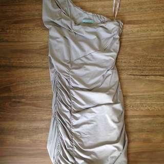 KOOKAI Size 2 Grey Gathered Dress