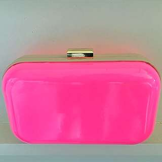 Fluro Pink Clutch