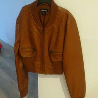 WORN TWICE - PURE LEATHER CROP JACKET
