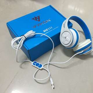 VYKON 唯肯 頭戴式耳罩式耳機麥克風 ME111 電腦用 USB接頭