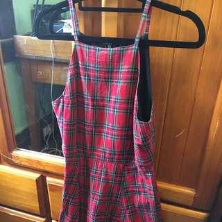 ON HOLD Neon Hart Tartan Dress