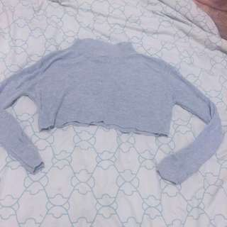 Grey Skivvy Crop From Princess Polly
