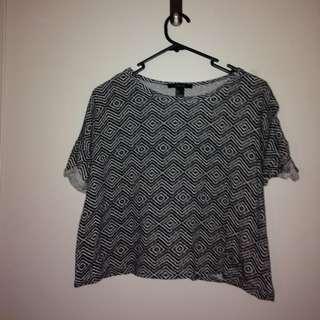 Patterned Loose Shirt