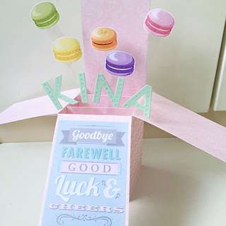 Goodbye Farewell , Good Luck And Cheers Pastel Pop Up Card