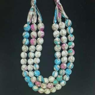 Batik necklaces.   PO.