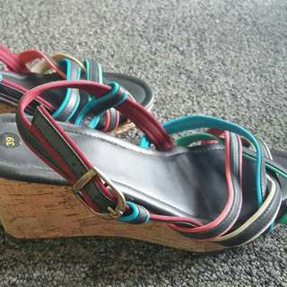 Strappy Wedges Size 8/EU 39