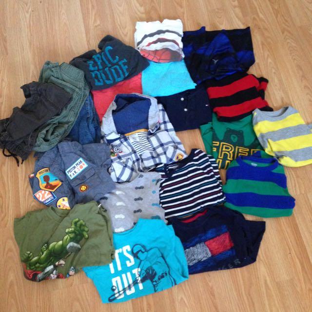 20 Pieces 5T Boys Clothes
